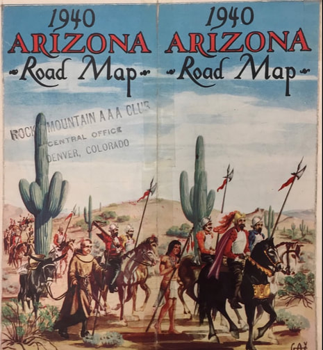 Historic Road Maps - On the Road Arizona